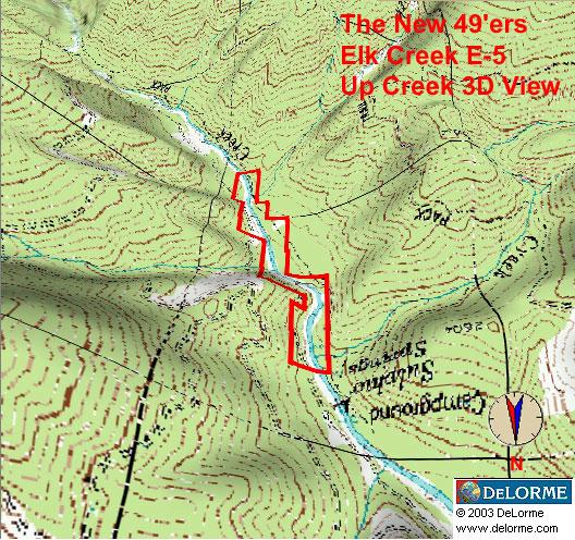 » E-5 Up Creek View Map