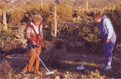Ladies metal detecting