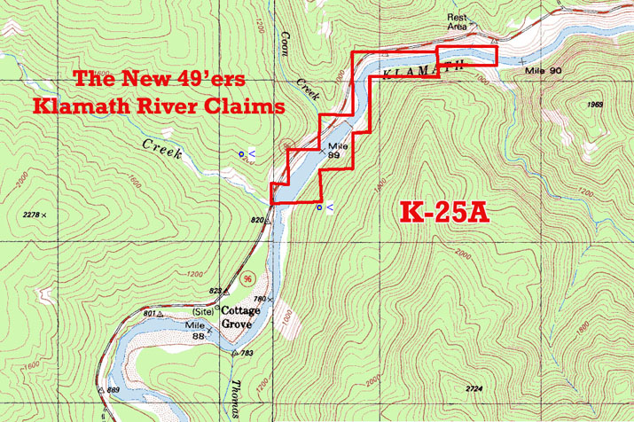 K-25a Topographical Map