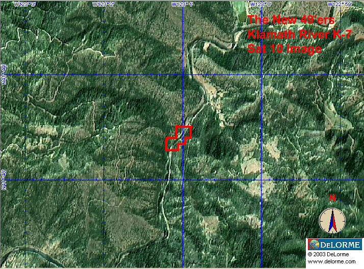 K-7 - Kinsman Creek Claims - Satellite View