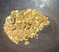 Nearly 3 ounces of gold