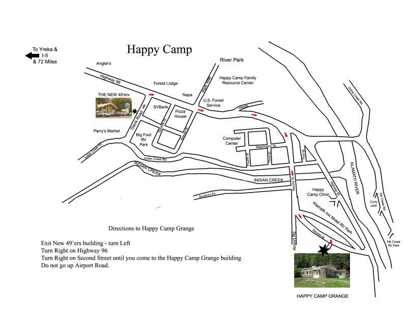 Map to Grange