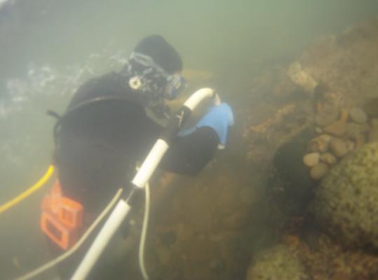 Dredging underwater