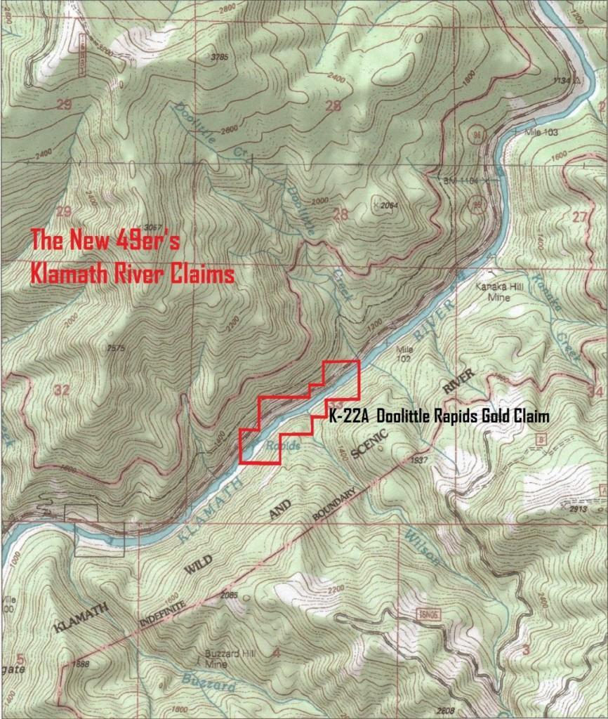 Doolittle Rapids topo