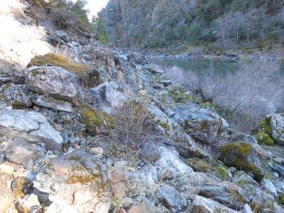 Extensive bedrock
