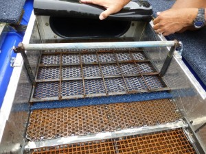 High-grade riffles at head of box