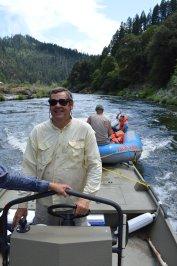 Dan pulling raft