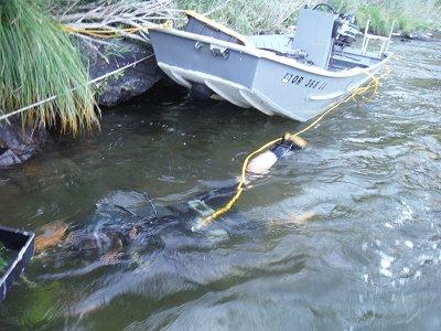 underwater sniping